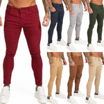 Land of Nostalgia Men's Street Wear Hip Hop Ankle Tight Stretch Slim Fit Jeans