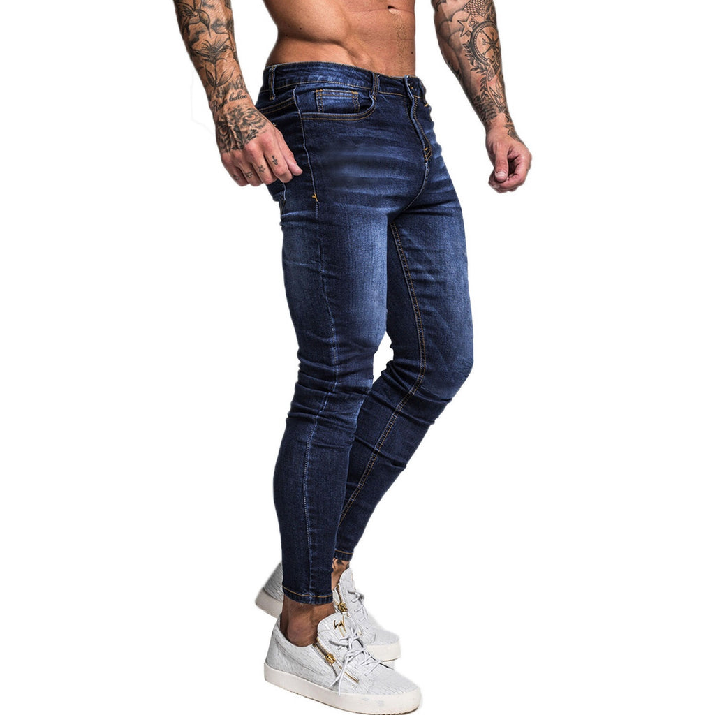 Land of Nostalgia Men's Fashion Hip Hop Street Wear Super Skinny Slim Fit Jeans