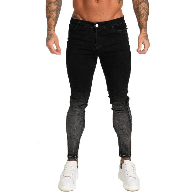 Land of Nostalgia Streetwear Hip Hop Pants Men's Super Skinny Slim Fit Jeans