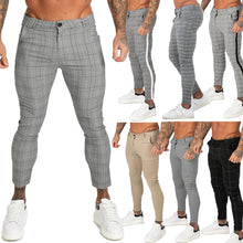 Land of Nostalgia Men's Plaid Skinny-Fit Euphoria Pants