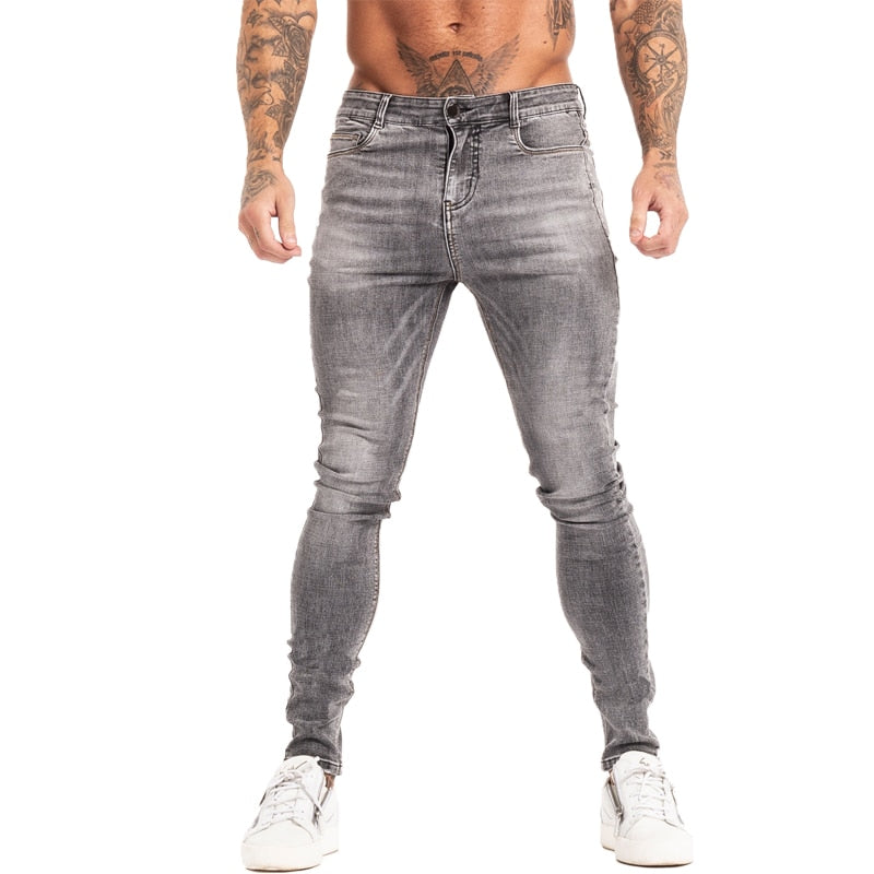 Land of Nostalgia Men's Hip Hop Stretch Ankle Tight Cut Slim Skinny Jeans