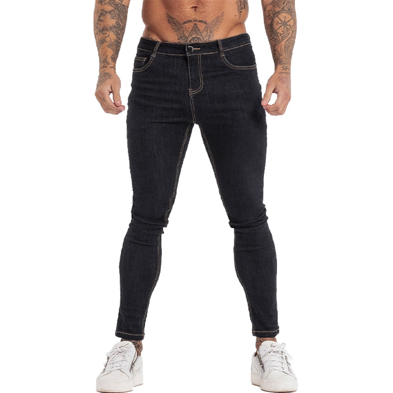 Land of Nostalgia Hommes Classic Pants High Waist Hip Hop Stretch Skinny Jeans
