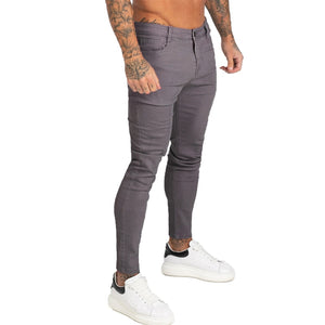 Land of Nostalgia Men's Hip Hop Homme Slim Fit Super Skinny Jeans