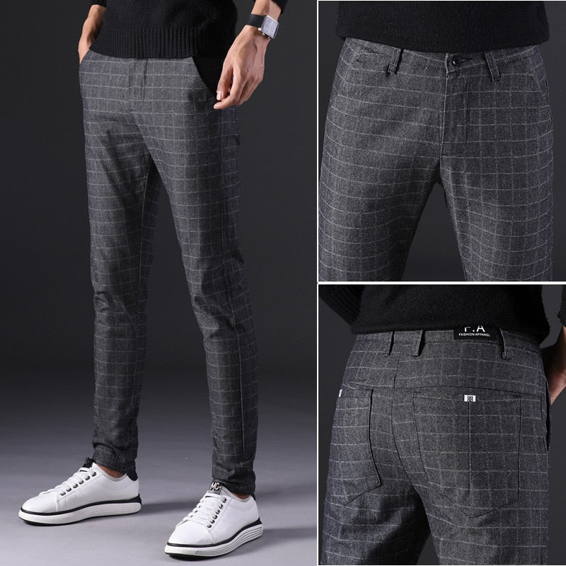 Land of Nostalgia Men's Casual Business Suit Pants