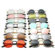 Land of Nostalgia Unisex Round Sunglasses with Mirror High Quality UV400