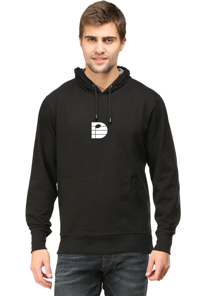 DARPAN SHAH Black Unisex Adult Hooded Sweatshirt