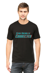 SARVESH TALK Unisex Adult T-Shirt - Stay Socially Connected