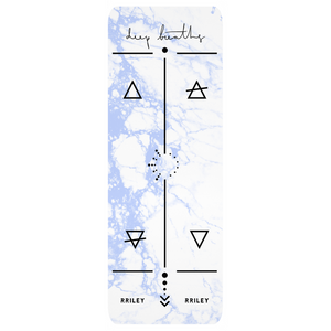 RRILEY Yoga Mat - Periwinkle Marble