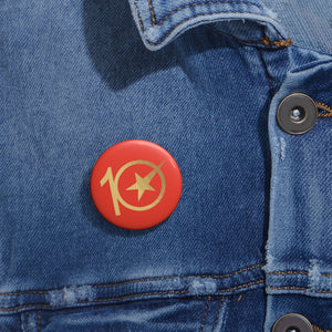 CHINACCELERATOR 10 Year Custom Pin Buttons