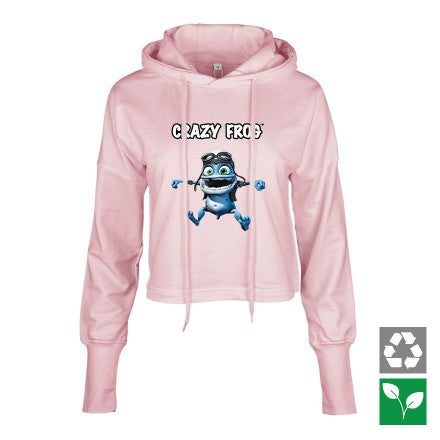 Crazy Frog Cropped Hoodie women