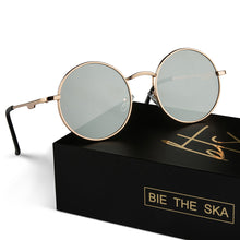 Load image into Gallery viewer, bie the ska gold round glasses thailand influencers packaging