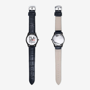 FLASHFOMO Classic Black Quartz Watch