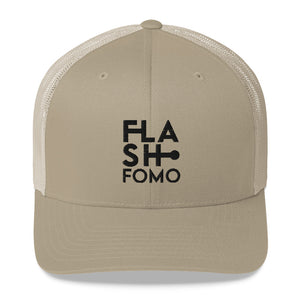 FLASHFOMO Block Retro Trucker Cap