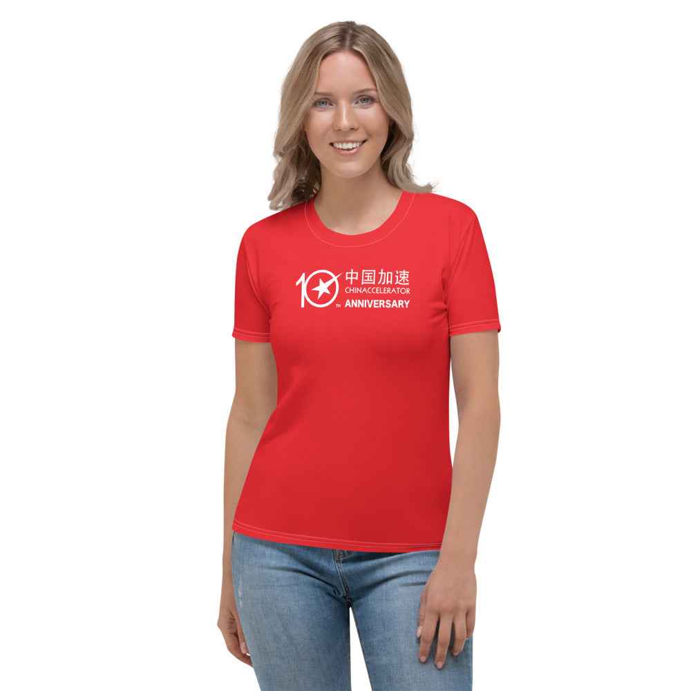 CHINACCELERATOR Women's Red T-shirt