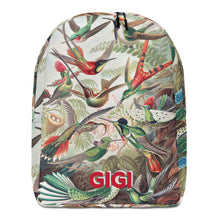 Load image into Gallery viewer, VINTAGE BIRDS Personalized Backpack - ADD YOUR NAME