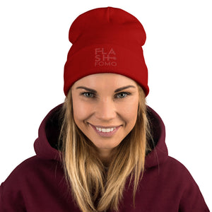 FLASHFOMO Flashy Embroidered Beanie