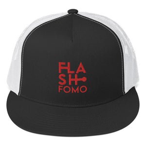 FLASHFOMO 5 Panel Trucker Cap