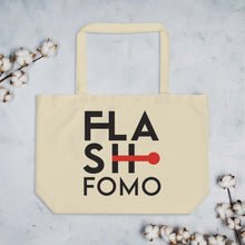 Load image into Gallery viewer, FLASHFOMO Clock Large Organic Tote Bag