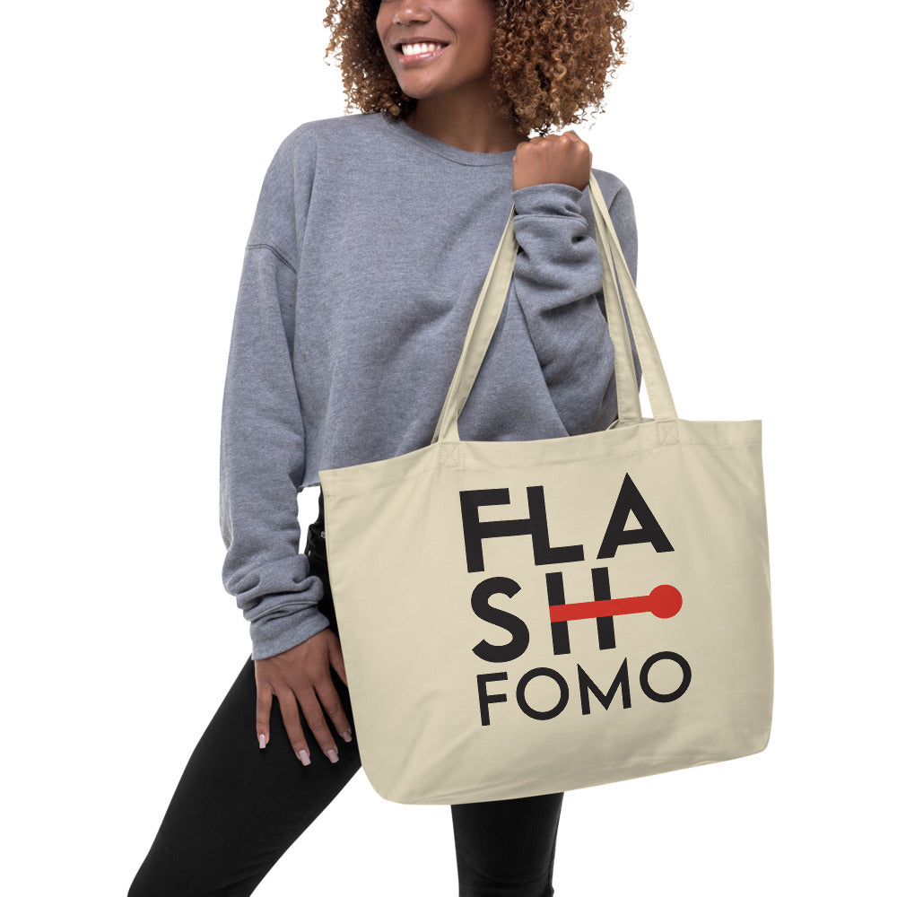 FLASHFOMO Clock Large Organic Tote Bag