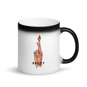 RRILEY Matte Black Magic Mug