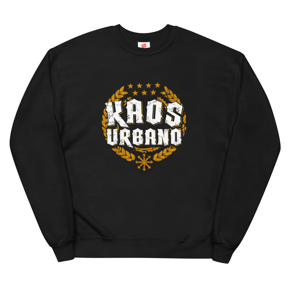 Kaos Urbano Unisex Black recycled fleece sweatshirt