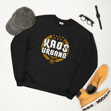 Load image into Gallery viewer, Kaos Urbano Unisex Black recycled fleece sweatshirt