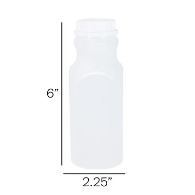 HDPE 200 Pack Choose From These Sizes: 8, 12, 16 oz  (includes white screw caps)