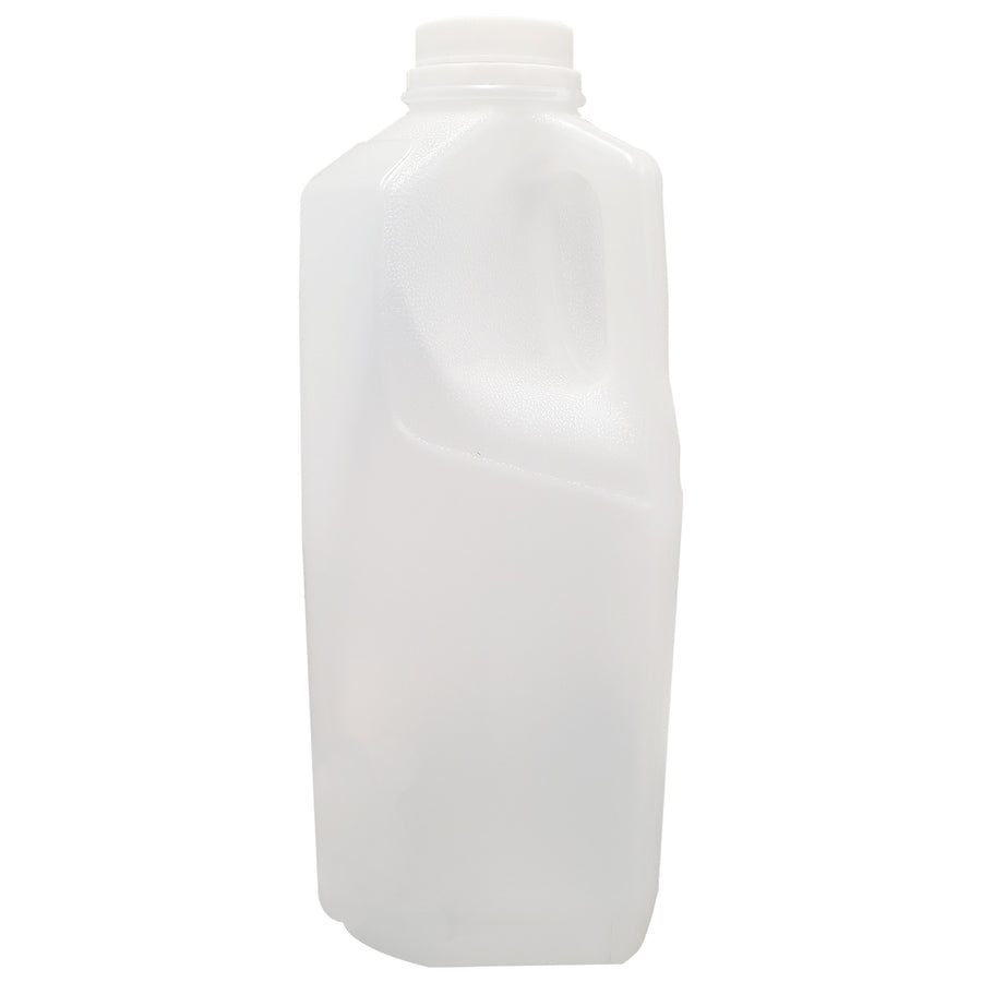 HDPE 64 oz Milk Bottle 100 Pack (includes white screw caps)
