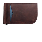 Chocolate Brown Saltrek Money Clip | RFID Slim Front Pocket Wallet