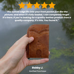 Rugged Brown Saltrek Ultra Slim | RFID Slim Front Pocket Wallet