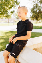 Load image into Gallery viewer, Boy's Black Athletic Shorts