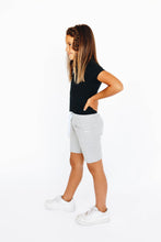 Load image into Gallery viewer, Girls' Gray Athletic Shorts