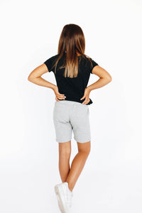 Girls' Grey Athletic Shorts