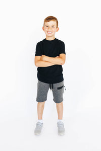 Boy's Dark Gray Athletic Shorts