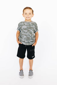 Boy's Black Athletic Shorts
