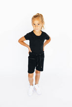 Load image into Gallery viewer, Girl's Black Athletic Shorts
