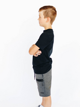 Load image into Gallery viewer, Boy's Dark Gray Athletic Shorts
