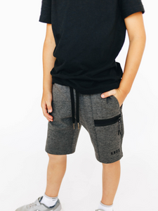Boy's Dark Grey Athletic Shorts