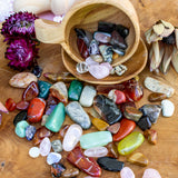 tumbled stones & crystal chips mix