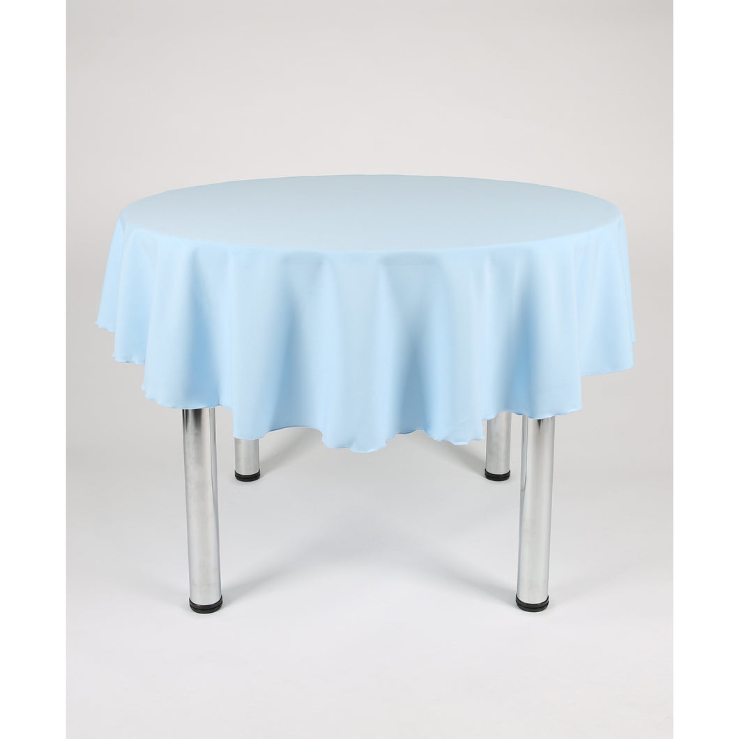 Baby Blue Round Polyester Fabric Table cloth - Extra Wide suitable for a Wedding Party