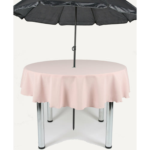 Blush Pink Round Polyester Fabric Garden Patio Table cloth