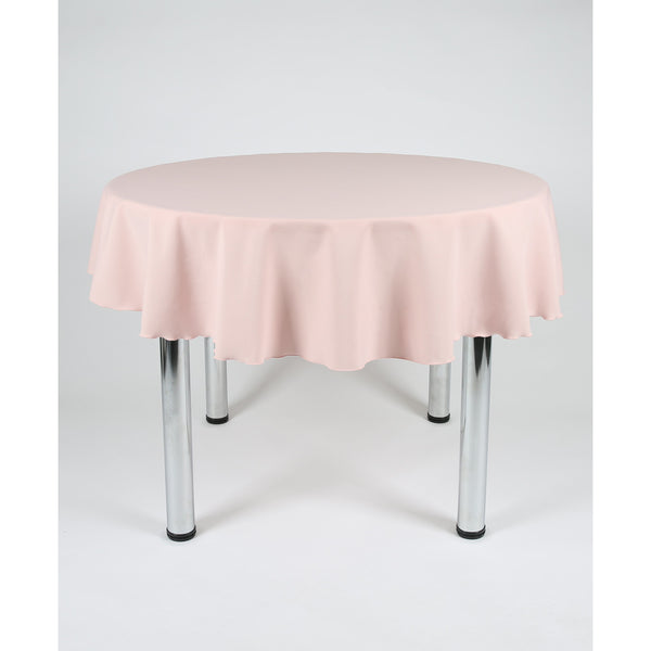 Blush Pink Round Polyester Fabric Table cloth