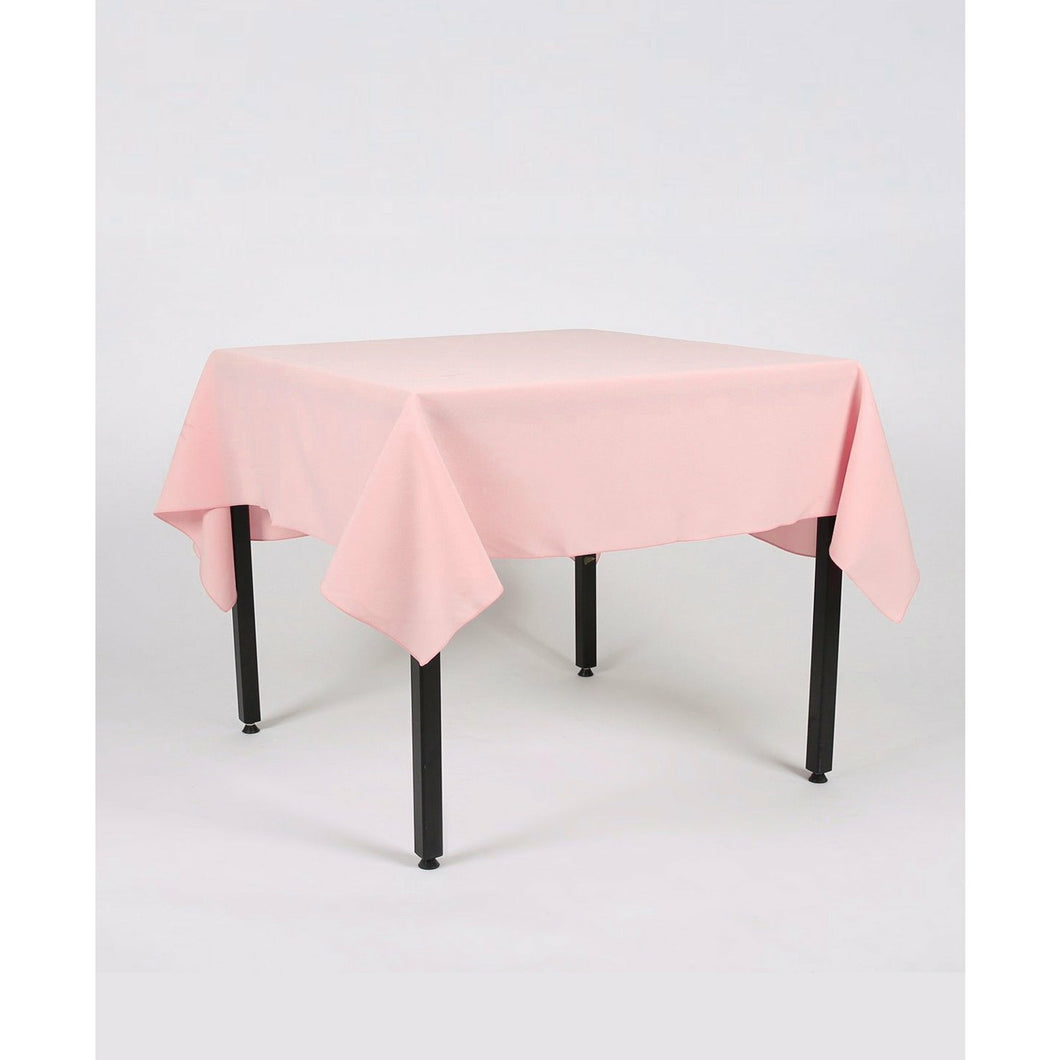 Blush Pink Rectangle Polyester Fabric Table cloth