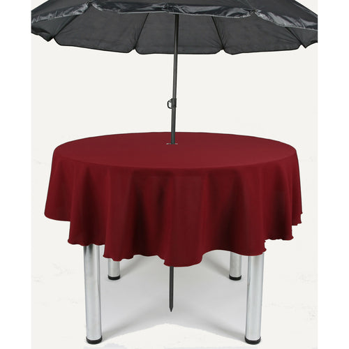Burgundy Round Polyester Fabric Garden Patio Table cloth