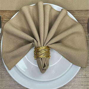 Camel Polyester Fabric Napkin