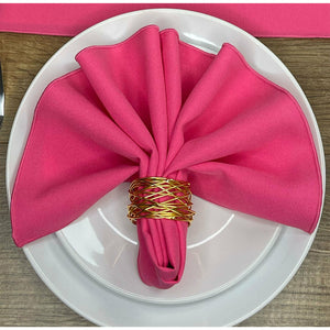 Hot Pink Polyester Fabric Napkin