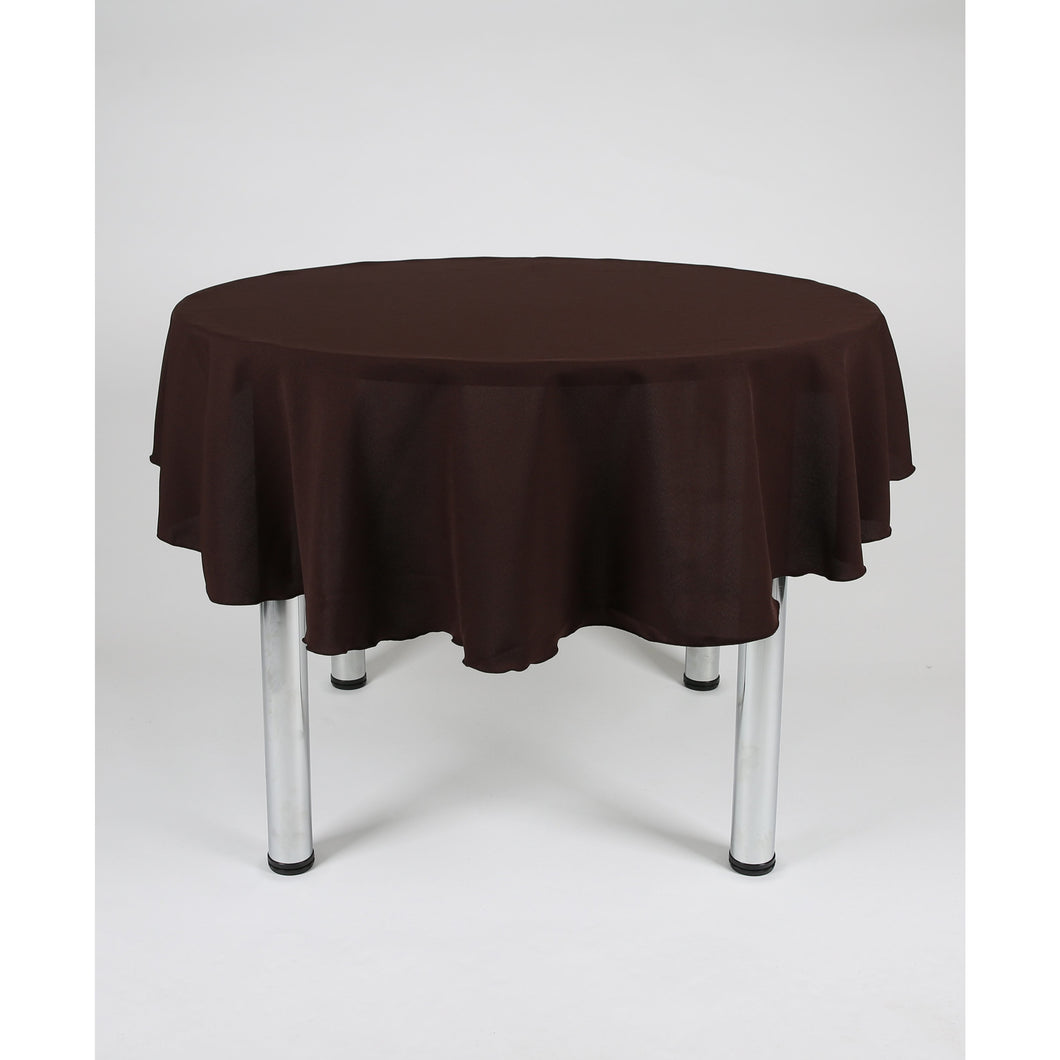 Dark Brown Round Polyester Fabric Table cloth - Extra Wide  Suitable for weddings, parties, christenings.