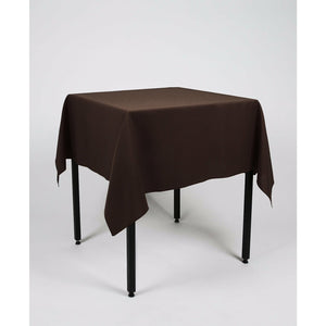 Dark Brown Square Polyester Fabric Table cloth - Extra Wide Suitable for weddings, parties, christenings.