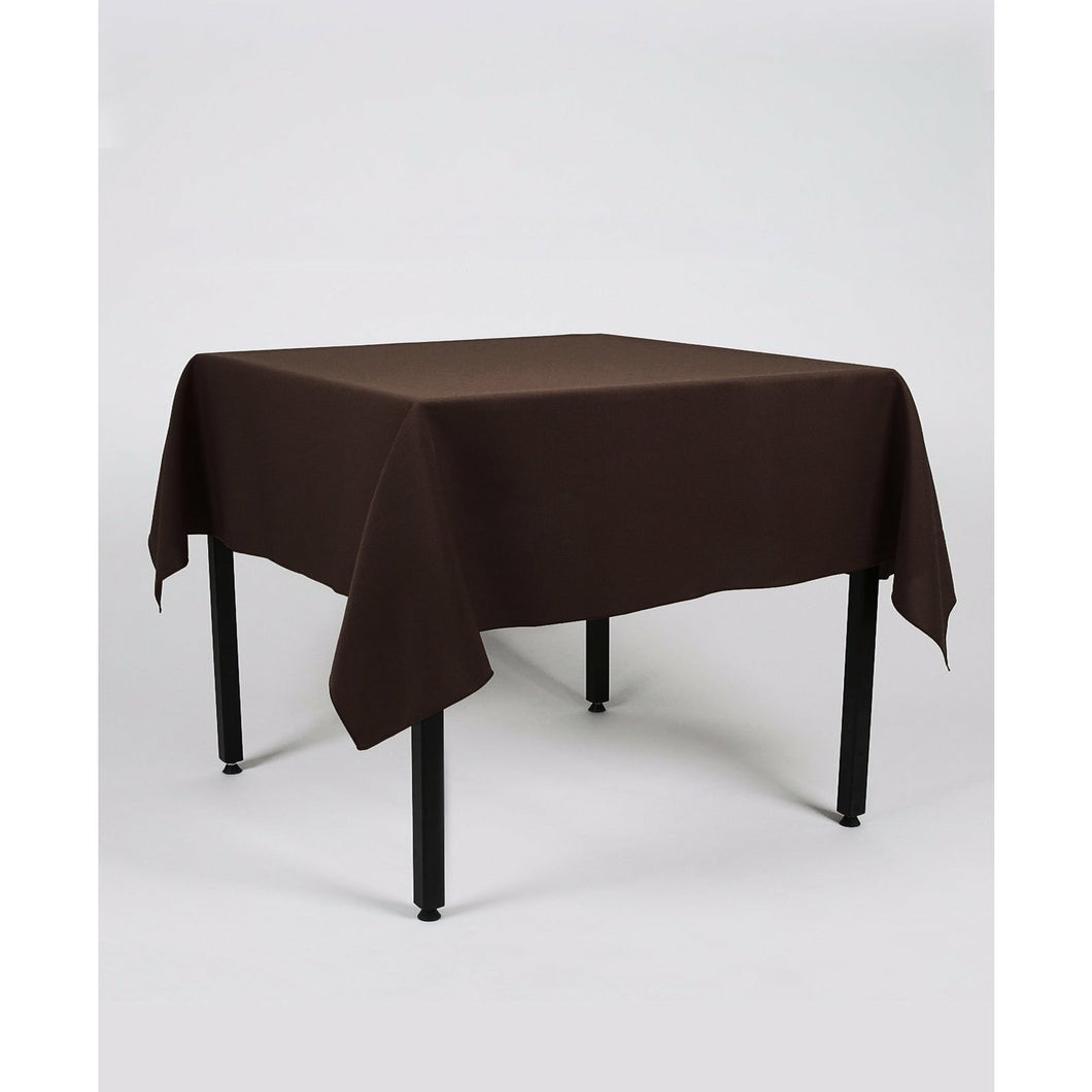 Dark Brown Rectangle Polyester Fabric Table cloth - Pub Style Tables