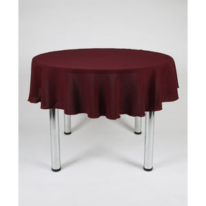 Dark Burgundy Round Polyester Fabric Table cloth